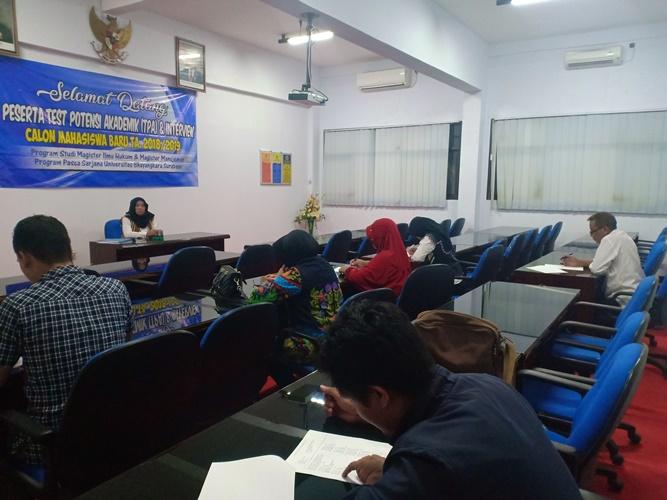 Kegiatan Tes Potensi Akademik (TPA) Magister Manajemen